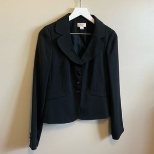 Loft Pin Dot Black Blazer Size 2